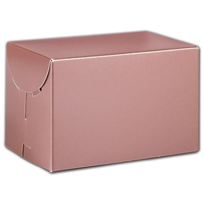 """Rose Gold Tinted Boxes, 6 x 4 x 4"""""""