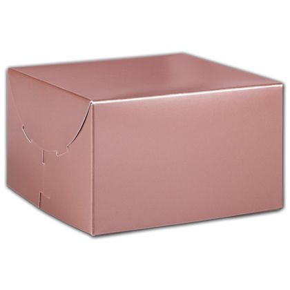 """Rose Gold Tinted Boxes, 6 1/2 x 6 1/2 x 4"""""""