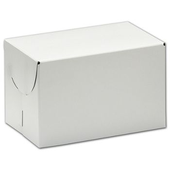 "White Two-Piece Expandable Boxes, 6 1/2 x 6 1/2 x 1 1/2"""