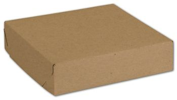 Natural Kraft Two-Piece Expandable Boxes 6 1/2x6 1/2x1 1/2