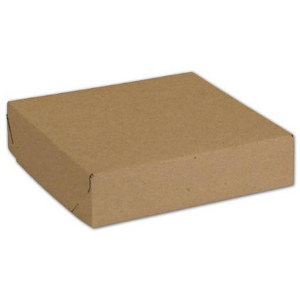 Natural Kraft Two-Piece Expandable Boxes 6 1/2x6 1/2x1 1/2