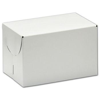 "White Two-Piece Expandable Boxes, 6 1/2 x 6 1/2 x 4"""