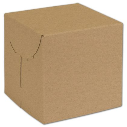 Natural Kraft Two-Piece Expandable Boxes, 6 x 6 x 6""