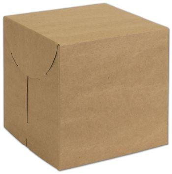 Natural Kraft Two-Piece Expandable Boxes, 7 x 7 x 7