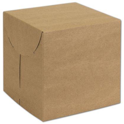 "Natural Kraft Two-Piece Expandable Boxes, 7 x 7 x 7"""