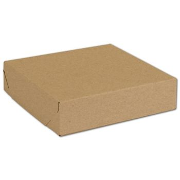 Natural Kraft Two-Piece Expandable Boxes, 8 x 8 x 2