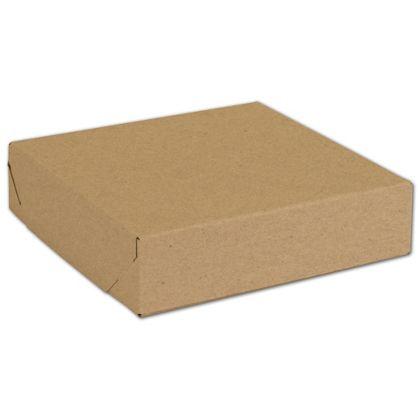 "Natural Kraft Two-Piece Expandable Boxes, 8 x 8 x 2"""