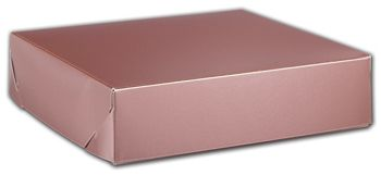Rose Gold Tinted Boxes, 8 x 8 x 2
