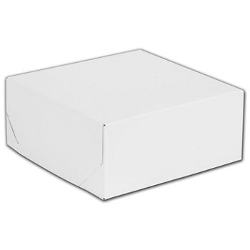 White Two-Piece Gift Boxes, 8 x 8 x 3 1/2