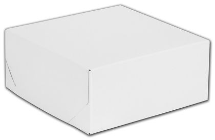 White Two-Piece Gift Boxes, 8 x 8 x 3 1/2""