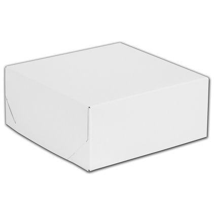 """White Two-Piece Gift Boxes, 8 x 8 x 3 1/2"""""""