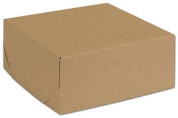 Natural Kraft Two-Piece Expandable Boxes, 8 x 8 x 3 1/2