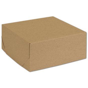 Natural Kraft Two-Piece Expandable Boxes, 8 x 8 x 3 1/2
