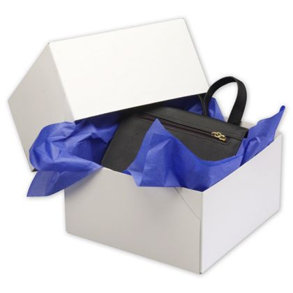 """White Two-Piece Gift Boxes, 9 x 9 x 5"""""""