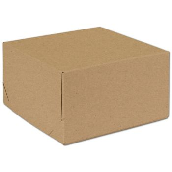 Natural Kraft Two-Piece Expandable Boxes, 9 x 9 x 5