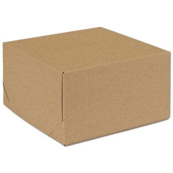 "Natural Kraft Two-Piece Expandable Boxes, 9 x 9 x 5"""
