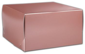 Rose Gold Tinted Boxes, 9 x 9 x 5