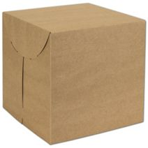 "Natural Kraft Two-Piece Expandable Boxes, 9 x 9 x 9"""