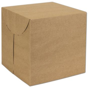 Natural Kraft Two-Piece Expandable Boxes, 9 x 9 x 9