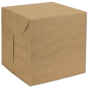 Natural Kraft Two-Piece Expandable Boxes, 9 x 9 x 9