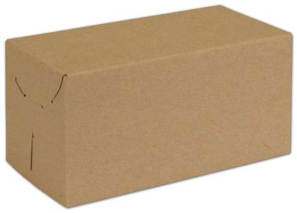"Natural Kraft Two-Piece Expandable Boxes, 10 x 5 x 5"""