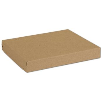 Natural Kraft Two-Piece Expandable Boxes, 10 x 8 x 1 1/4