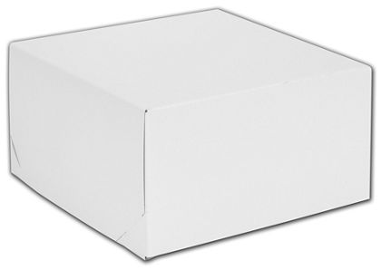 White Two-Piece Gift Boxes, 10 1/2 x 10 1/2 x 5 1/2""