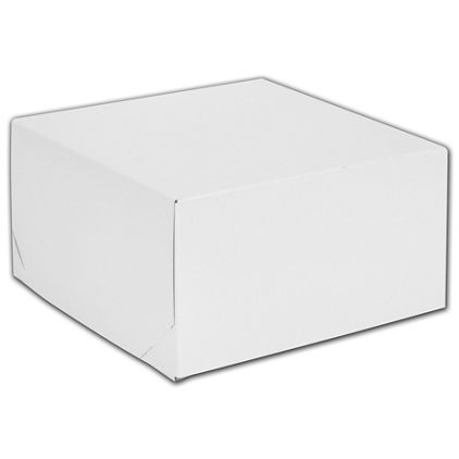 """White Two-Piece Gift Boxes, 10 1/2 x 10 1/2 x 5 1/2"""""""