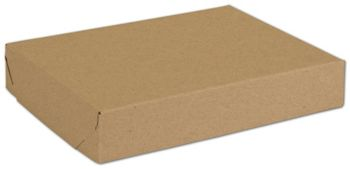 Natural Kraft Two-Piece Expandable Boxes, 11 1/4x8 1/2x2