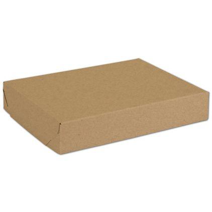 "Natural Kraft Two-Piece Expandable Boxes, 11 1/4x8 1/2x2"""