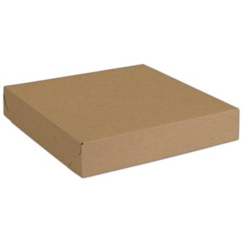 "Natural Kraft Two-Piece Expandable Boxes, 11 x 11 x 2"""