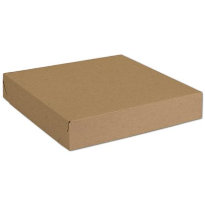 Natural Kraft Two-Piece Expandable Boxes, 11 x 11 x 2""