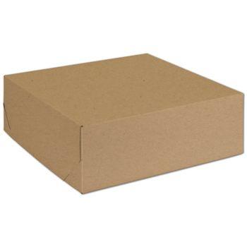 "Natural Kraft Two-Piece Expandable Boxes, 11 x 11 x 3 3/4"""