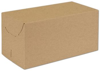 Natural Kraft Two-Piece Expandable Boxes, 12 x 6 x 6