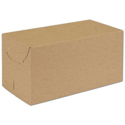 "Natural Kraft Two-Piece Expandable Boxes, 12 x 6 x 6"""