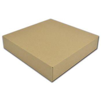 "Kraft Two-Piece Gift Boxes, 12 x 12 x 2 1/2"""
