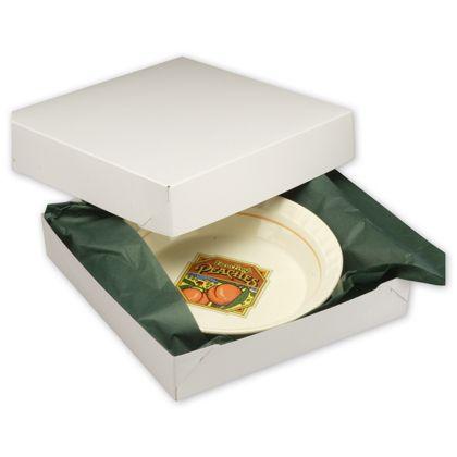 """White Two-Piece Gift Boxes, 12 x 12 x 2 1/2"""""""