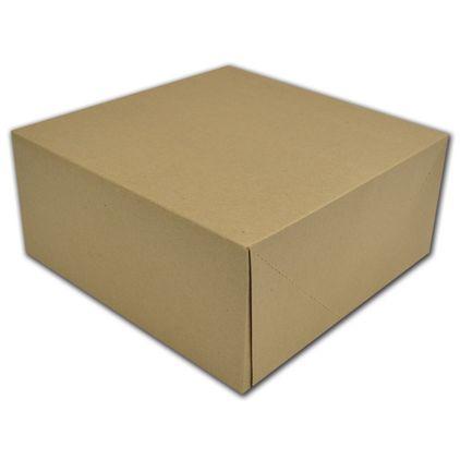 "Kraft Two-Piece Gift Boxes, 12 x 12 x 5 1/2"""