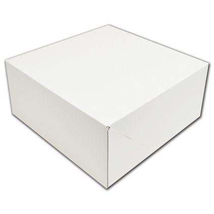 """White Two-Piece Gift Boxes, 12 x 12 x 5 1/2"""""""