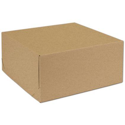"Natural Kraft Two-Piece Expandable Boxes, 12 x 12 x 5 1/2"""