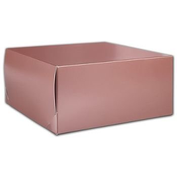 Rose Gold Tinted Boxes, 12 x 12 x 5 1/2