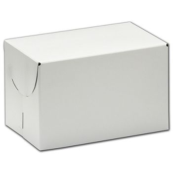"White Two-Piece Expandable Boxes, 13 x 7 x 3 3/4"""