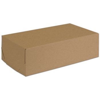 Natural Kraft Two-Piece Expandable Boxes, 13 x 7 x 3 3/4