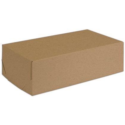 "Natural Kraft Two-Piece Expandable Boxes, 13 x 7 x 3 3/4"""