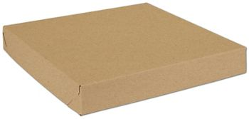 Natural Kraft Two-Piece Expandable Boxes, 14 x 14 x 2
