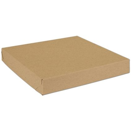 "Natural Kraft Two-Piece Expandable Boxes, 14 x 14 x 2"""