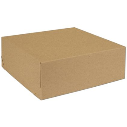 "Natural Kraft Two-Piece Expandable Boxes, 14 x 14 x 5"""