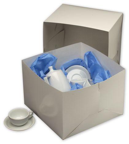 """White Two-Piece Gift Boxes, 14 x 14 x 10"""""""