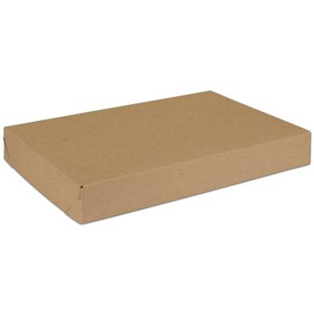 Natural Kraft Two-Piece Expandable Boxes, 15 x 10 x 2