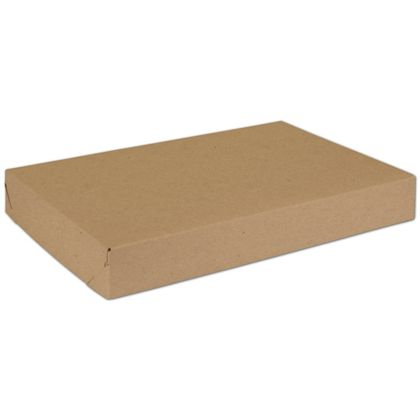 Natural Kraft Two-Piece Expandable Boxes, 15 x 10 x 2""